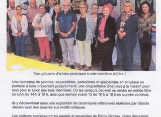 Salon d'Art de Bodilis du 12 au 15 août 2017