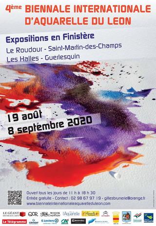 4 ème biennale Internationale d'Aquarelle du Léon - du 19 août au 08 septembre 2020