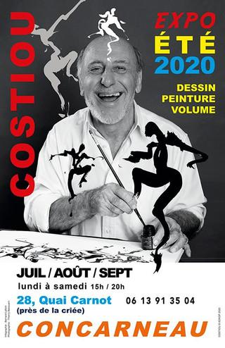 à Concarneau - Exposition COSTIOU - juillet, août et septembre 2020