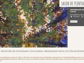 à Fouesnant-les Glénan - Salon de Peinture - du 5 au 26 juillet 2019