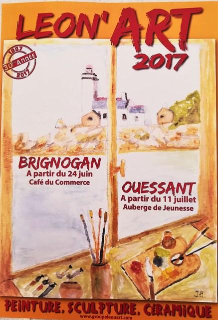 Expo Léon'Art à Brignogan plages été