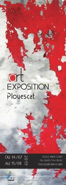 à Plouescat - Exposition Art tout cour - du 14 juillet au 15 août 2019