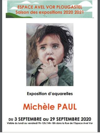 à Plougastel-Daoulas - Exposition à L'Avel Vor - du 3 au 29 septembre 2020