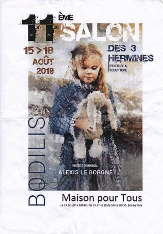 à Bodilis - 11ème Salon des 3 hermines - du 15 au 18 août 2019