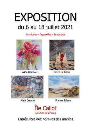 à Carantec - Exposition sur l'Île Callot - du 6 au 18 juillet 2021