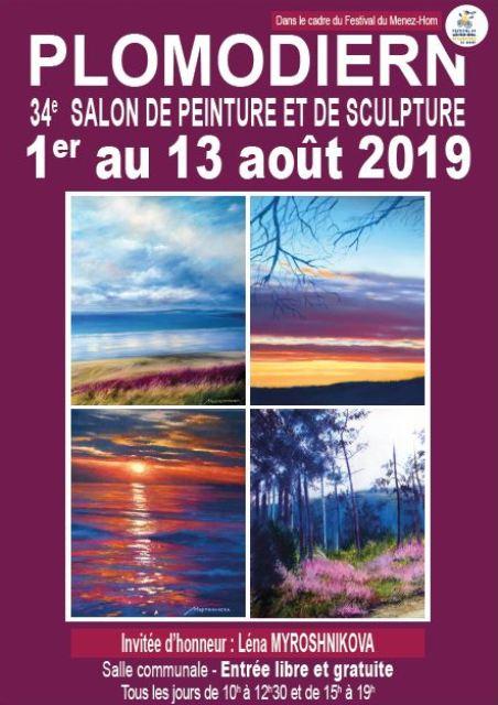affiche 34ème Salon de Plomodiern