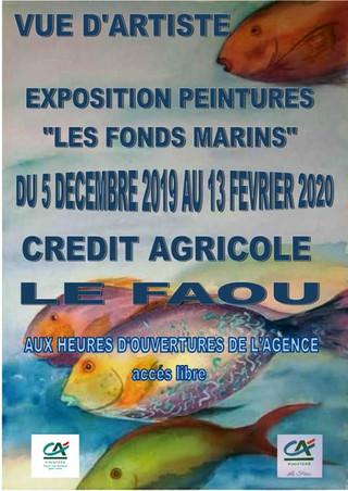 Au Faou - Exposition de peintures - du 5 décembre 2019 au 13 février 2020