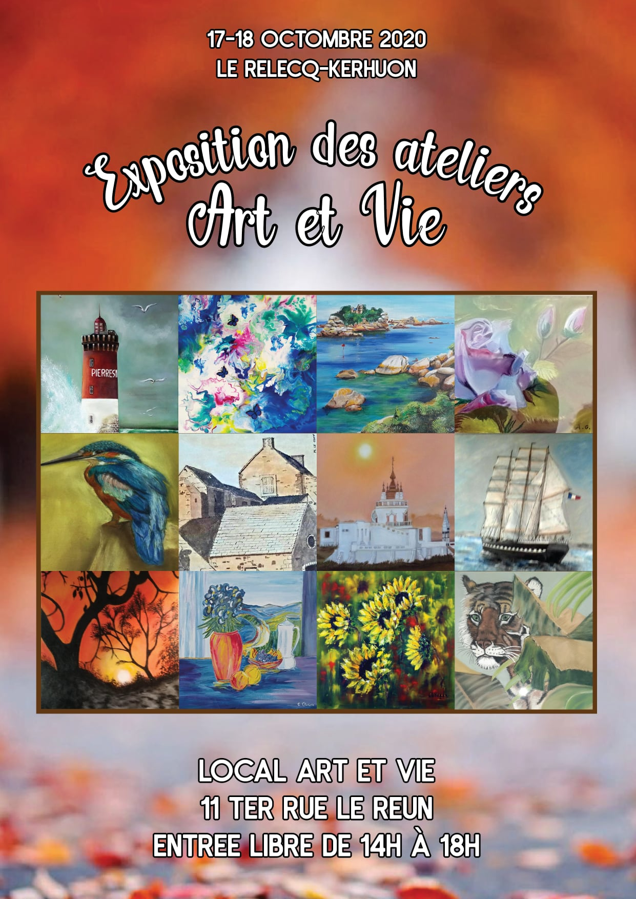 affiche expo art et vie