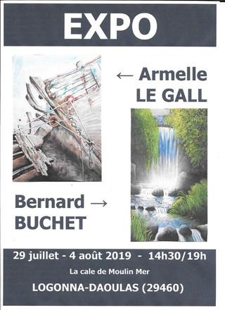 Logonna-Daoulas - Exposition de peintures - du 29 juillet au 4 août 2019