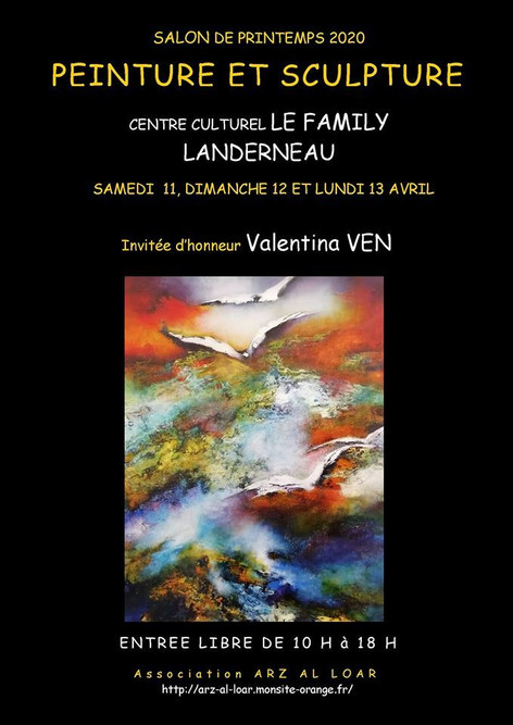 Affiche Salon du Printemps 2020 landerneau