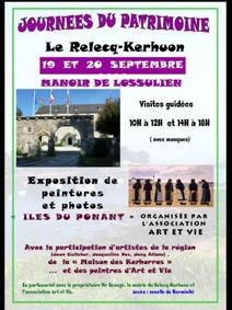 Au Relecq-Kerhuon - Journées du Patrimoine - 19 et 20 septembre 2020