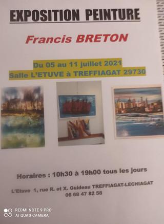 à TREFFIAGAT - Exposition de Peinture - du 05 au 11 juillet 2021