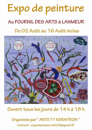 à Lanmeur - Exposition de Peintures - du 2 au 16 août 2020