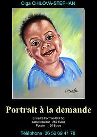Portrait de mon petit fils - pastels secs