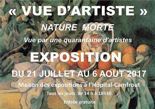 affiche expo vue d'artiste du 21 juillet au 6 aout 2017 hopital Camfrout