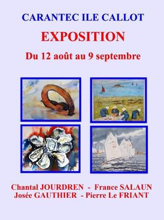 Carantec - Exposition sur l'île Callot - du 12 août au 9 septembre 2019