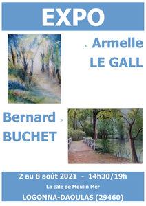 à Logonna-Daoulas - Expo d'Aquarelles et de Pastel - du 2 au 8 août 2021