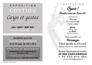 à Concarneau - Exposition Dessins, peintures, volumes - Juillet-août-septembre 2021