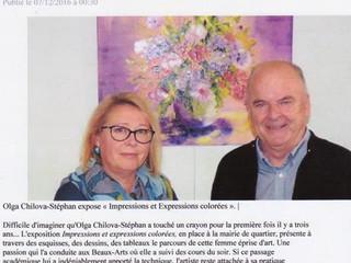 Article du Ouest-France du 7 décembre 2016