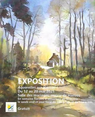 à Hanvec - Exposition d'Aquarelles - du 12 au 20 mai 2021