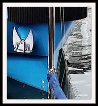 Proue bleue au port de Brest