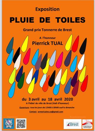 à Brest - Exposition PLUIE DE TOILES - du 3 au 18 avril 2020