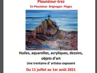 à PLounéour-Trez - Exposition d'Art - du 11 juillet au 1er août 2021