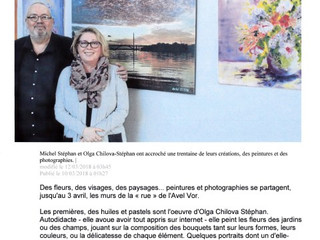 Exposition avec Michel STEPHAN à l'Espace AVEL VOR à Plougastel-Daoulas du 8/03 au 3/04/2018