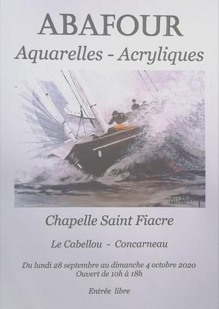 à Concarneau - Exposition de Peintures - du 28 septembre au 4 octobre 2020
