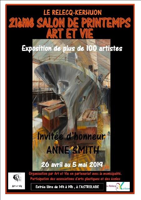 Affiche 21ème salon du printemps Art et vie Relecq Kerhuon