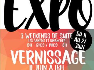 à Bannalec - Expo SCARLETT - les samedis et dimanche du 11 au 27 juin 2021