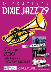 à Logonna-Daoulas - DIXIE JAZZ'29 - les 10 et 11 octobre 2020