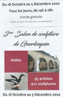 à Guerlesquin - 5 ème Salon de Sculpture -du 18 octobre au 5 décembre 2020