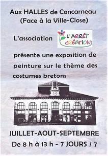 à Concarneau - Exposition de peintures - Juillet, Août et Septembre 2021