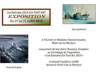 à La Martyre - Exposition - du 1er au 31 juillet 2019