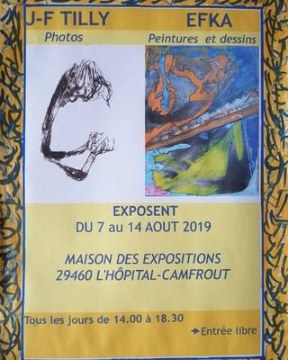 à l'Hôpital-Camfrout - Expositions de photos, de peintures et de dessins - du 7 au 14 août 2019