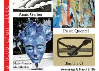 à Saint-Jean-du-Doigt - Exposition d'Artistes - du 8 au 21 août 2020
