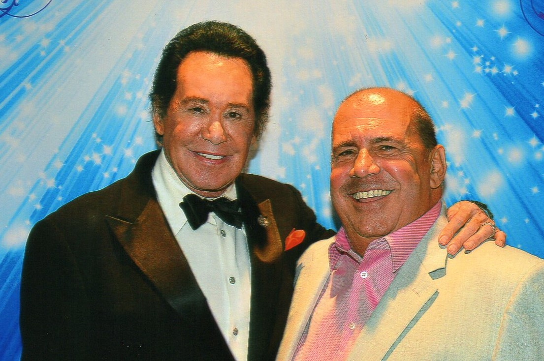 With Wayne Newton