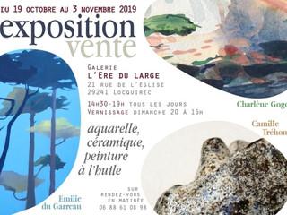 à Locquirec - Exposition Vente - du 19 octobre au 3 novembre 2019