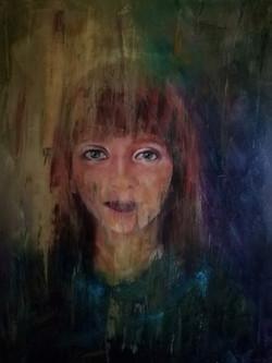 flou artistique portrait huile