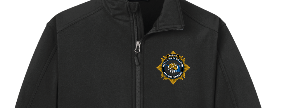A-1 Softshell Jacket Black - Embroidered