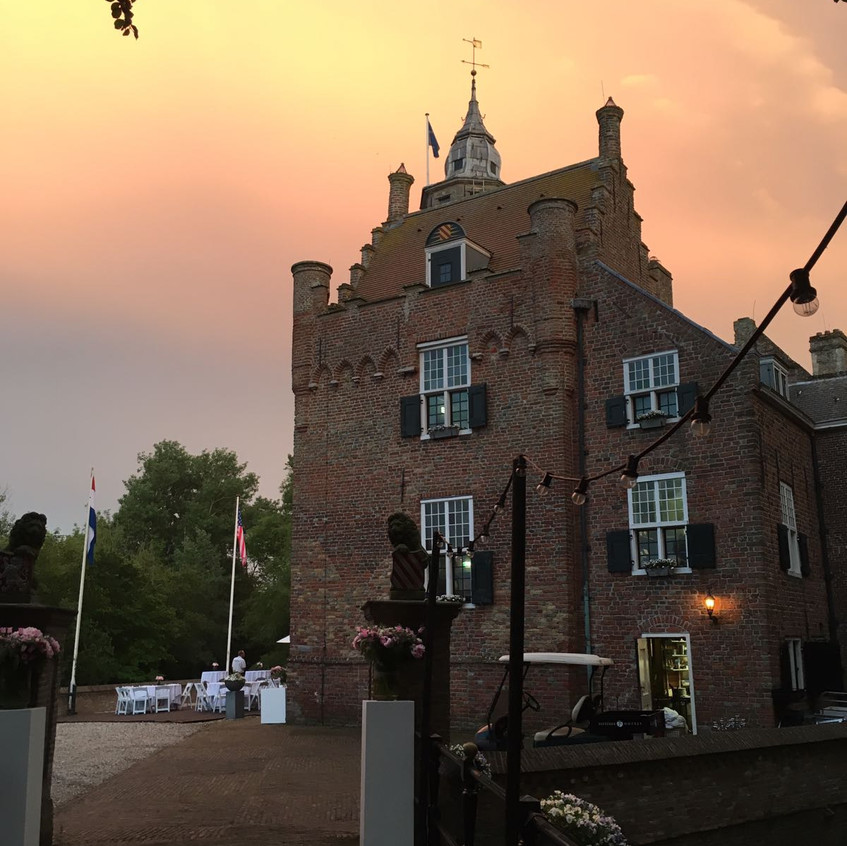 Slot Moermond, zonsondergang