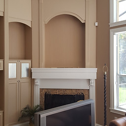 Before Wall Unit & Fireplace