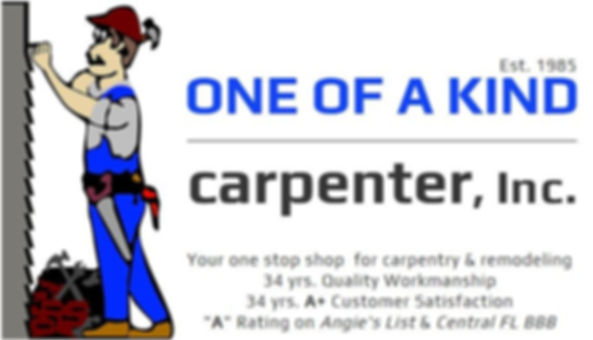 One Of A Kind Carpenter