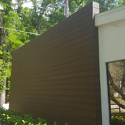 Completed Exterior Wall Treatment