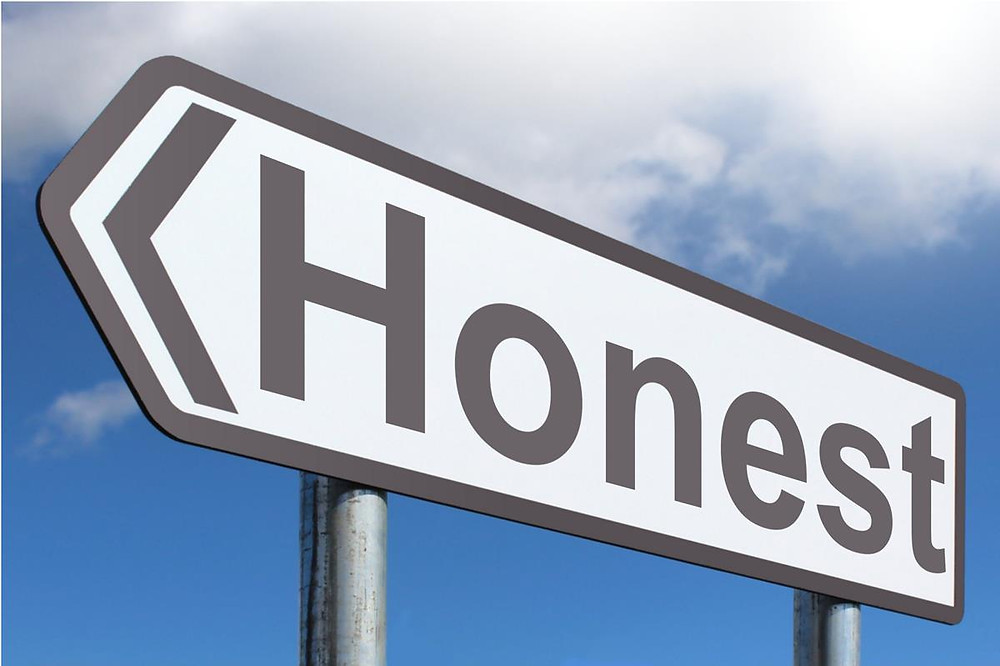 honest road sign