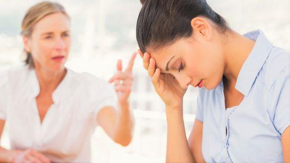 woman scolding woman