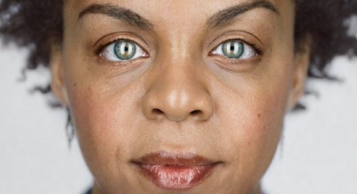 black woman green eyes