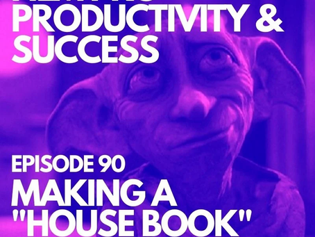 """Episode 90   MAKING A """"HOUSE BOOK"""""""