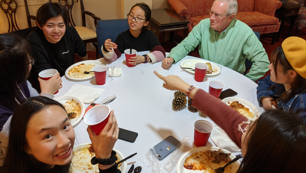 Dinner with local Churches